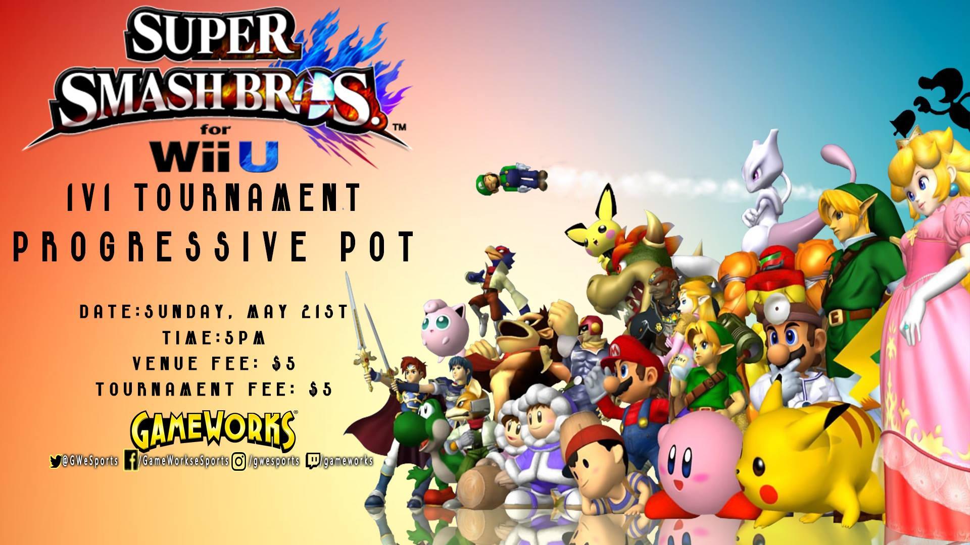 $150 Bonus 1v1 Super Smash Tournament WiiU | Esports in Las Vegas