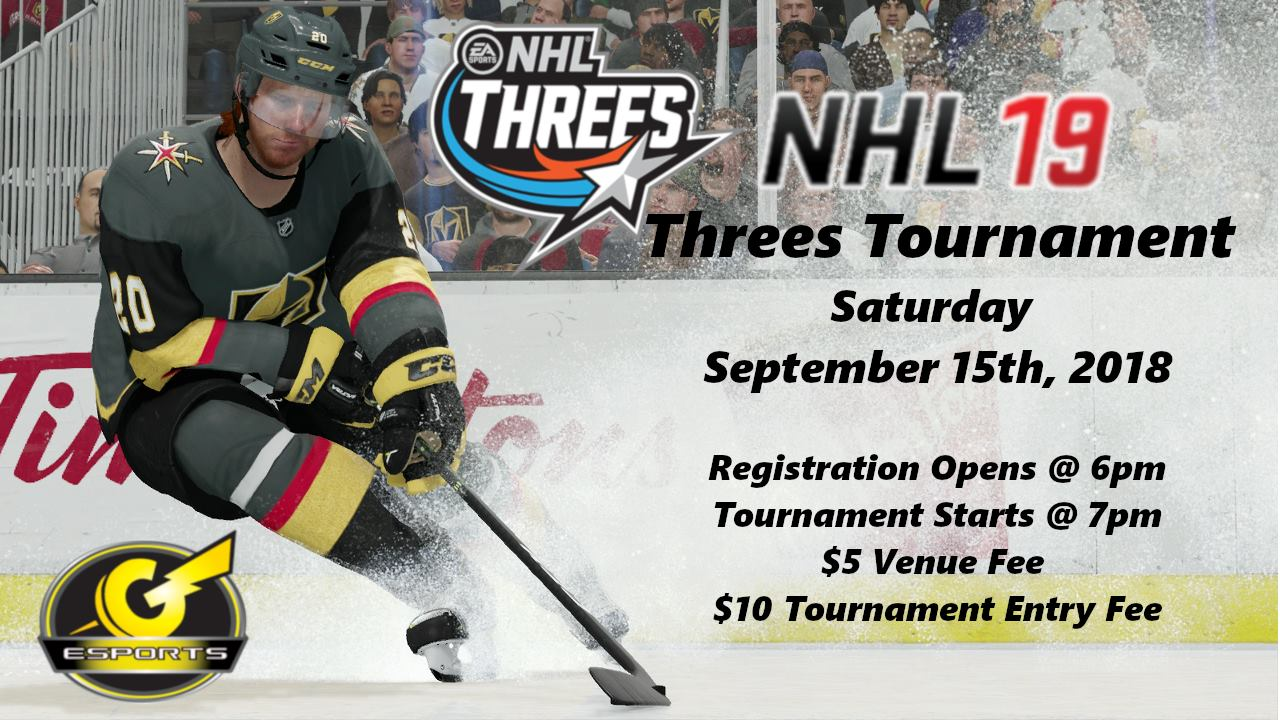 Nhl19 Threes Tournament Ps4 Esports In Las Vegas